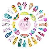 Naler Mollette per Capelli di Bambina Cartone Animato 66 Fermagli per Capelli di Bambina C...