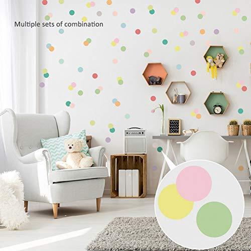 PISKLIU Pegatinas De Pared Multicolor Bar Dots DIY Pegatinas de Pared para habitación de niños Decoración de Dormitorio Vinilo Nursery Office Art Decal Decoración para el hogar