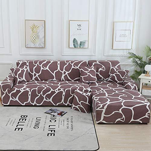 WXQY Funda de sofá de Sala de Estar Chaise Longue, en Forma de L Necesita Comprar 2 Juegos, Funda de sofá elástica Funda de sofá de Esquina en Forma de L A3 2 plazas
