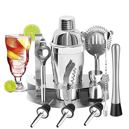 U-Homewee 12 Pezzi/Set di Strumenti Professionali Acciaio Inossidabile, Kit, Adatto a baristi di Livello familiare Cocktail Shaker Regali per Uomo, 1