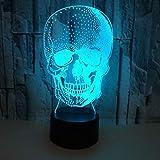 Skull Lava Lamp Night Light Touch Change Night Light Lamparas USB Table Lamp Party Desk Decor Lamp Baby Night Light Child Gift