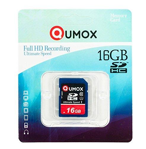 QUMOX 16GB SDHC Tarjeta SD Card Class 10 UHS-I Grade 1