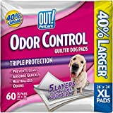 OUT! Odor Control Extra Large Dog Pads   Absorbent Pet Training and Puppy Pads   60 Pads   26 x 24 Inches