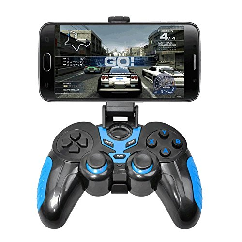 Zmsdt Bluetooth Gamepad para Android Smart Phone TV Box Joystick Joypad inalámbrico Bluetooth Gamepad con soporte gratuito