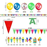 iZoeL Einschulung Deko Schulanfang Schuleinführung Girlande Alles Gute Zum Schulanfang + 40m Wimpelkette + 15 Luftballon + Konfetti + Folienballon für Junge Mädchen - 2