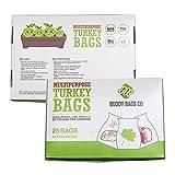 Buddy Bags Co Multipurpose Nylon Turkey Oven Bags - 19' x 24.5' - 25 Pack