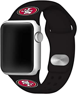 Game Time San Francisco 49ers Silicone Sport Band Compatible with Apple Watch - Band ONLY (38mm/40mm)