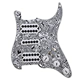 BQLZR Black White Zebra Color 3-ply HSH Electric Guitar Loaded Prewired Pickup Pickguard for Electric Guitar