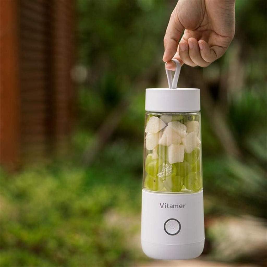 Mini mélangeur portable taille personnelle mélangeur de fruits électrique USB rechargeable presse-fruits électrique 350 ml bouteille de sport de voyage,Blanc White