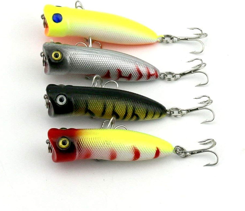 Generic 600pcs Popper Plastic Fishing Lures 5.5CM 5.5G 8  Hooks Fishing Tackle Lure crankbait Minnow top Water Fishing Bait