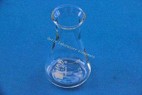 Matraz de cónico de 100ml, erlenmeyer, con boca ancha, cristal de borosilicato 3.3