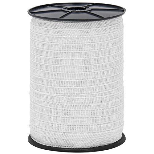 NEU: 30% mehr Leitfähigkeit – Doppelpack – insgesamt 400 Meter Weidezaunband inkl. Zubehör – Elektrozaun Sparpack - 3
