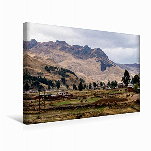 Premium - Lienzo de tela (45 x 30 cm, horizontal, pequeño colonización, imagen sobre bastidor, lienzo auténtico) Bergwelt der Anden (CALVENDO Orte);CALVENDO Orte