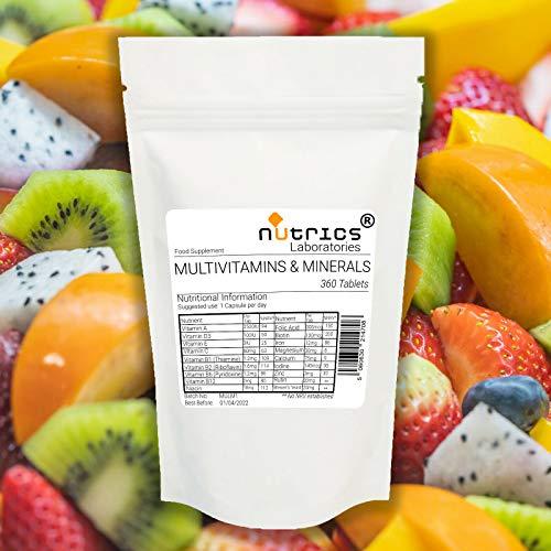 Nutrics Radiance MultiVitamins & Minerals Vegetarian Tablets  180 Tablets  (6 Month Supply)