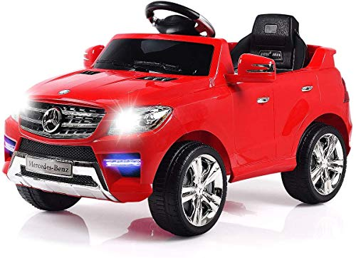 HONEY JOY Kids Licensed Ride On Car, 6V 2-Motor Electric Vehicle with 2.4G Remote Control, LED Lights, MP3 Player, Real Engine Sound, 4 Wheeler Ride-On Toy for Toddler Girl Boy (Red)