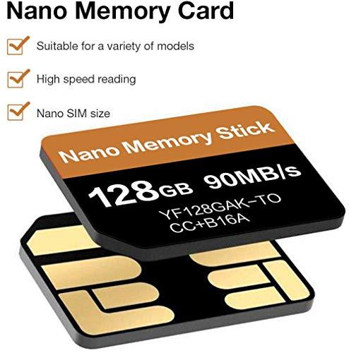 tomaxx 90MB/s 128GB Nano Memory NM Card Speicherkarte Karte SIM passt Kompatibel für OnePlus 7T, OnePlus 7T Pro, Huawei P30, P30 Pro, P40 Pro, P40 Lite, P40, P30 Pro New Edition, Mate 20, 20X, 20 Pro