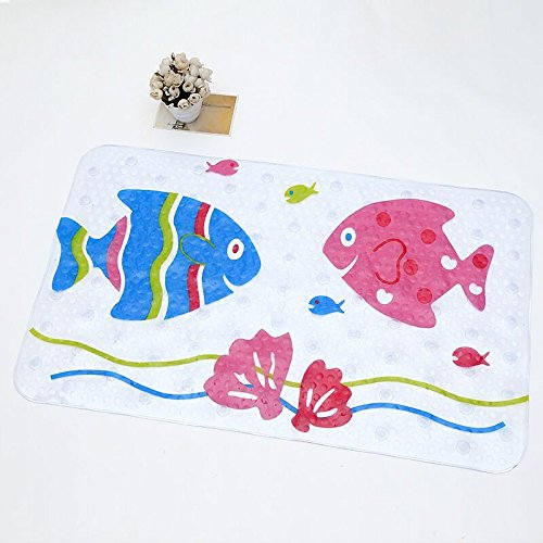 Faucet-BeAu Leuke Cartoon Anti-Slip PVC Badmatten met Sucker Badkamer Tapijt Douche Pad Zachte Massage Pad Multi-Kleur
