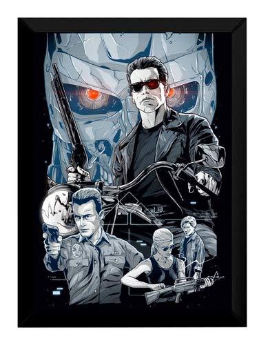 Quadro Filme Exterminador Do Futuro Arte Poster Moldurado