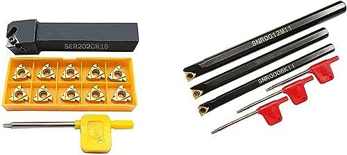 lowest ASZLBYM 2021 SNR0008K11 SNR0010K11 SNR0012M11 SER2020K16 Lathe Carbide Turning Tools Holder Set with 3PCS 11IR A60 10PCS 16ER AG60 BP010 Indexable Carbide online Turning Inserts online
