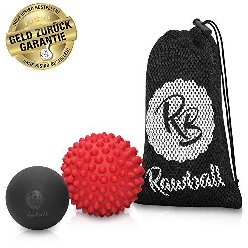 Rawball - Der perfekte Premium Massage-Ball & Igel-Ball für richtige Sportler + GRATIS E-Book: Strafft wirklich das Bindegewebe, löst sofort Verspannungen, beugt Muskelkater...