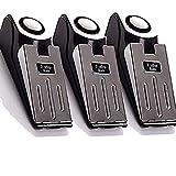 3 Pack Upgraded Door Stop Alarm -Great for Traveling Security Door Stopper Doorstop Safety Tools for Home