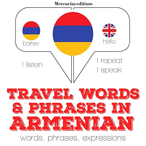 Travel words and phrases in Armenian audiobook cover art