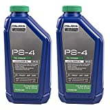 Polaris Engineered PS-4 Synthetic 4-Cycle Engine Oil, 1 Quart (Pack of 2)
