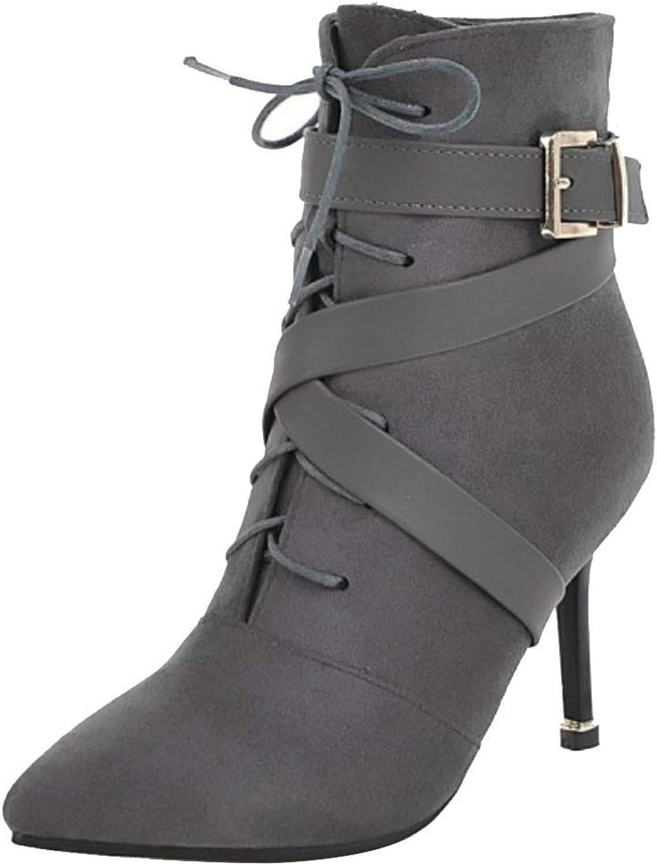 Unm Women's Fashion Stiletto Short Bootie Ankle High