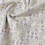 YDONGIIU Sonreír Flor de algodón Jacquard de la Falda de los Pantalones de Dibujos Animados Hecha a Mano de Ropa, Ancho Total 1 Pieza Cuttable 20 x 57inches (50x145cm) (Color : Purple)