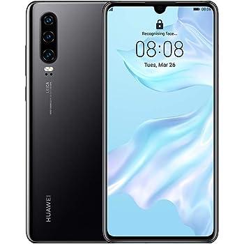 Huawei P30 Single-SIM 128GB ELE-L09 (GSM Only, No CDMA) Factory Unlocked 4G/LTE Smartphone - International Version (Midnight Black)