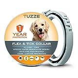 MASOLD Collare antipulci e zecche per Cani, 12 Mesi, per Controllo delle zecche e delle pulci per Cani, Trattamento Naturale a Base di Erbe, Non tossico, Protezione Impermeabile e Regolabile