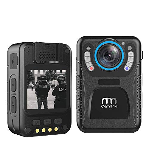 CammPro 128GB Body Worn Camera Advanced Video Coding 11 Hours Recording Ultralight 1440P HD Video Body Camera, Night Vision, Premium Surveillance Pocket Wearable Camera Recorder