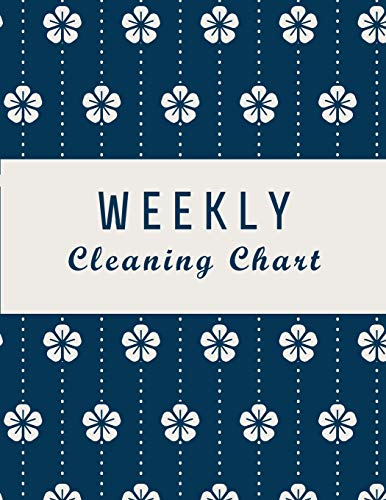 Weekly Cleaning Chart: Flower Japan Cover, Cleaning Routine, Home Cleaning, Household Chores List, Cleaning Checklist