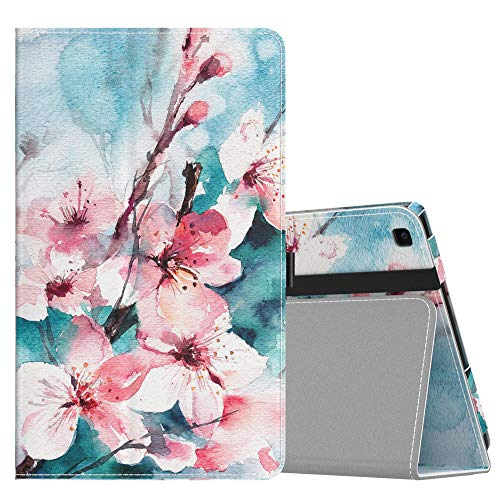 MoKo Case Fit Samsung Galaxy Tab A 8.0 T290/T295 2019 Without S Pen Model, Ultra Lightweight Slim-Shell Stand Folio Cover Case for Galaxy Tab A 8.0 2019 Release Tablet - Peach Blossom