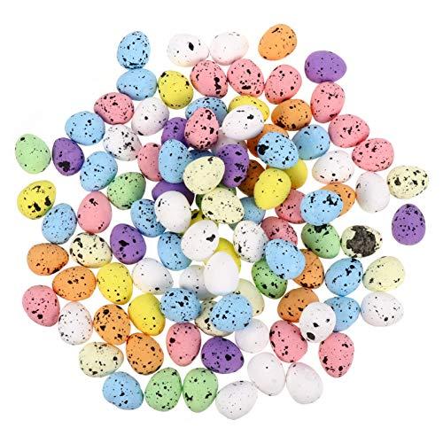 VALICLUD 100 Stück gemahlener Schaumstoff Ostereier Mini-Styroporschaum Vogel-Eier Graffiti-Eier Osterkorb für Handwerk DIY Gastgeschenke für Partys, 24BAK0GL49D16G, 24BAK0GL49D16G 1.8 cm
