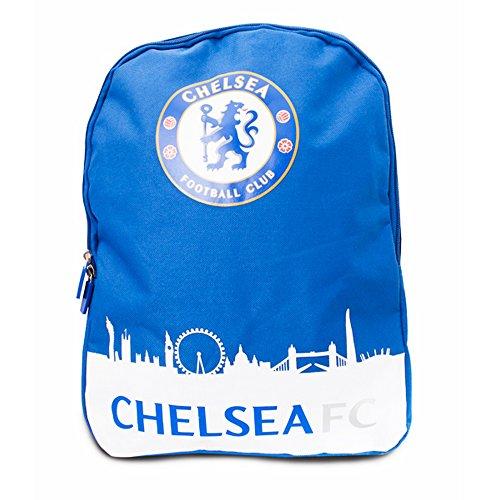 Chelsea FC Official - Mochila oficial (Talla Única) (Azul/Blanco)