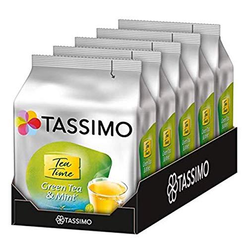 Jacobs Tassimo Kapseln Tea Time Grüner Tee mit Minze, 5er Pack (5 x 200 g)