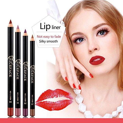 Yiitay 12 pcs / set Professionnel Mat Crayon Crayon Eyeliner Rouge À Lèvres Crayons À Lèvres Pour Longues Lèvres Maquillage Stylo Outils Cosmétiques