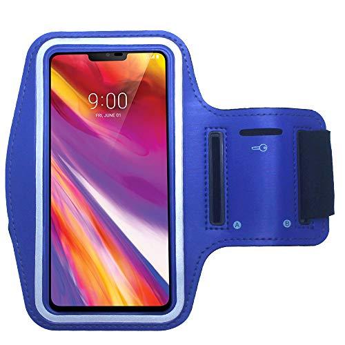 CBUS - Brazalete Deportivo para Footing, Jogging, Correr y Entrenar. Compatible con Xiaomi Mi 10/10 Pro/10T/10T Lite/10T Pro/Poco X3 NFC/Redmi 9/9C, Redmi Note 9/9S/9Pro (Azul)