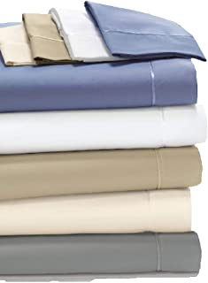 Degree 4 Dreamfit Made in The USA 100% Egyptian Cotton Sheets Set (Blue, Queen)