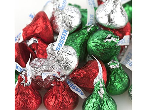 Hershey Kisses Christmas Foil red green silver Hershey's 5 pounds SPECIAL BUY