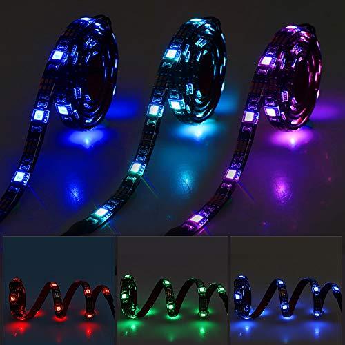5 V USB LED Strip 5050 wasserdicht RGB LED-Licht 1 m 2 m Rf 17 Tasten für TV, Skateboard, Fahrrad, leuchtende Schuhe