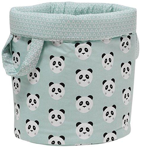 Funny Baby Pandy mint speelgoedtas, gewatteerd diameter 30 x 40 cm