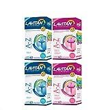 Kit Lavitan 2 AZ Mulher + 2 AZ Homem Cada caixa 60 Comprimidos