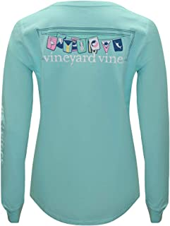Women's Long Sleeve Pocket Signature Graphic T-Shirt.