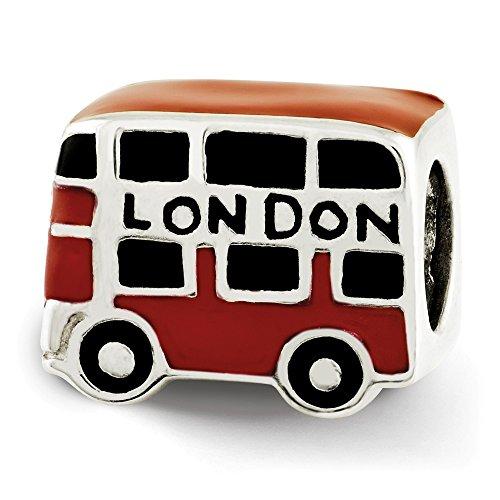 Beautiful Sterling Silver Reflections Enamel London Double Decker Bus Bead
