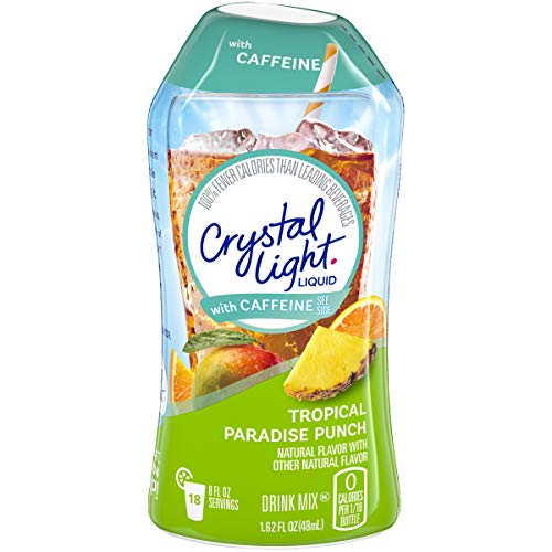 Crystal Light Tropical Paradise Punch Liquid Drink Mix with Caffeine (1.62 oz Bottle)
