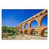 1000 piezas pont du Gard, Provenza en Francia Puentes antiguos e imágenes Rompecabezas de piezas grandes para adultos Juguete educativo para niños Juegos creativos Entretenimiento Rompecabezas de made
