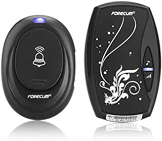 LinLinYi Wireless Doorbell, Wireless Doorbell Smart Home Doorbell with 36 First Music Single Receiver Waterproof Plug-in Doorbell