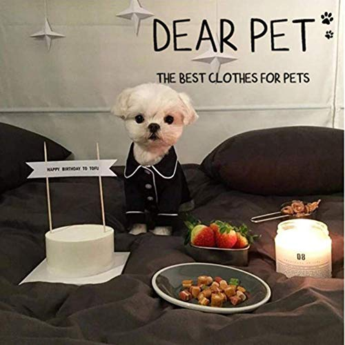 EgBert Pet Pajamas Dog Jumpsuits Clothes for Dog Teddy Bomei Small Dog Clog Clothing Dogs Pajamas Pet T-Shirt - Schwarz - 2XL